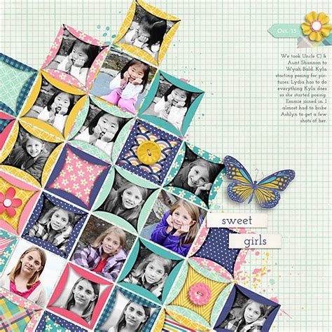 Scrapbook Quilt Layout | papercraft scrapbook layout my girls scrapbook com