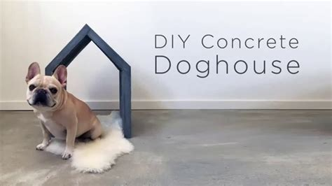 concrete dog house diy concrete dog house youtube