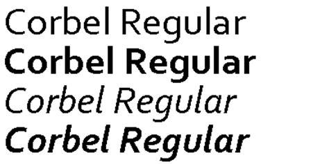 Corbel Font Free free fonts constantia corbel calibri cambria candara consolas