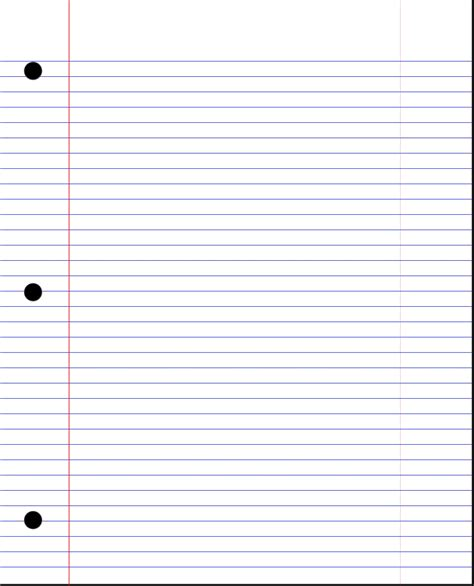 Lined Paper Template Pdf