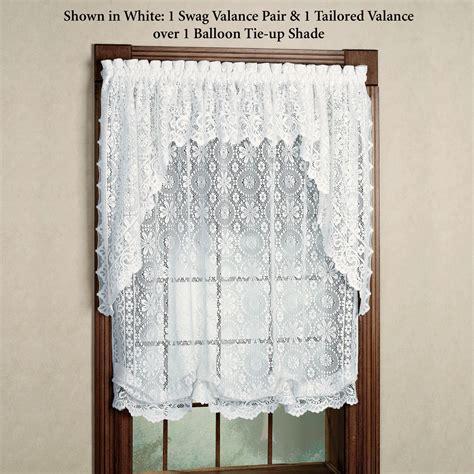 Balloon Shades Valances hopewell lace balloon shade and valances