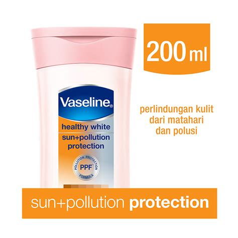 Vaseline Healty White 200ml jual vaseline healthy white sun pollution protection