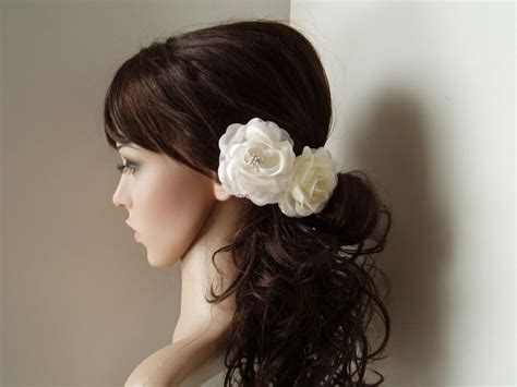 wedding hair vintage wedding hair flower bridesmaids - Vintage Bridesmaid Hair Pieces