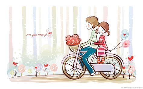 Wallpaper Of Couple Cartoon | cute cartoon couple love hd wallpapers for valentines day