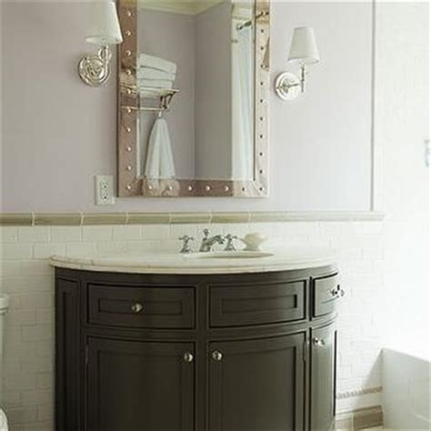 Half Bathroom Vanity Half Moon Vanity Traditional Bathroom Veranda