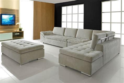 sofas em l sof 225 adaxus canto em l veludo bege sala