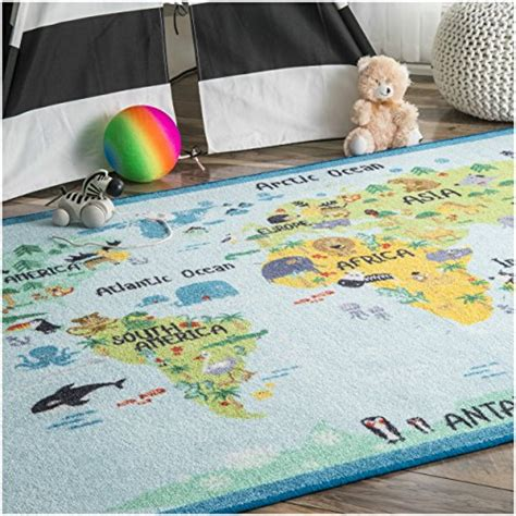 Area Rugs For Baby Room Learn The World With This Animal World Baby Blue Nursery Area Rug