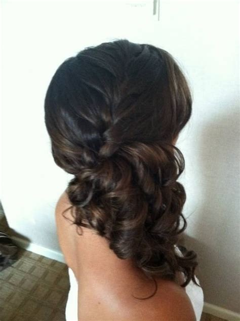 hairstyles with braids and curls to the side side braids with curls