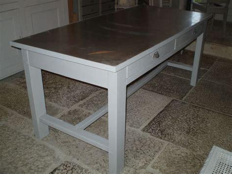 recouvrir table plaque de zinc pour recouvrir un meuble 1 une table pour