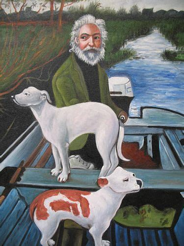 goodfellas dog boat painting one dog goes this way the other dog dog guy and movie