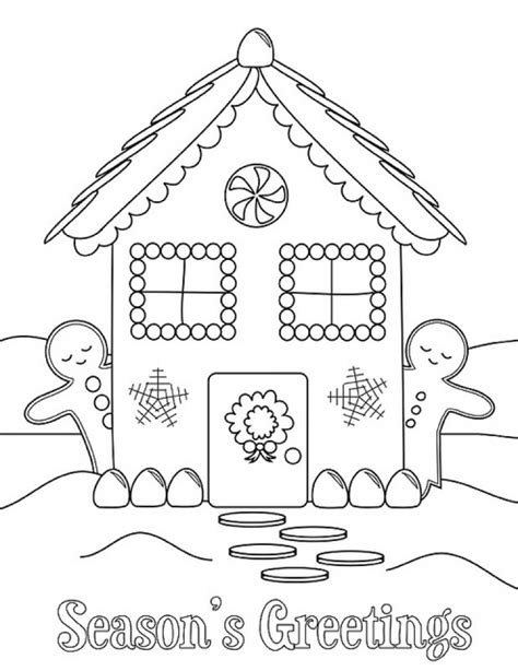 coloring page house preschool get this easy preschool printable of gingerbread house