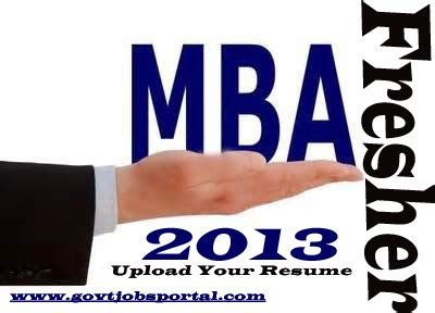 Mba Freshers In Government by Govtjobsportal
