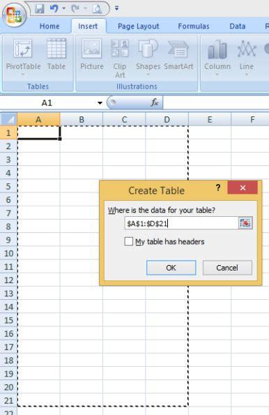 cara membuat tabel di dalam microsoft excel get my archives trik mudah membuat tabel di microsoft excel 2007 bagi