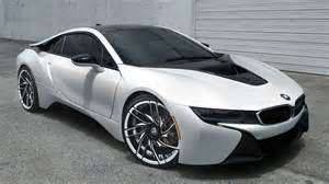 Bmw I8 White Gallery Matte White Bmw I8 On Savini Wheels