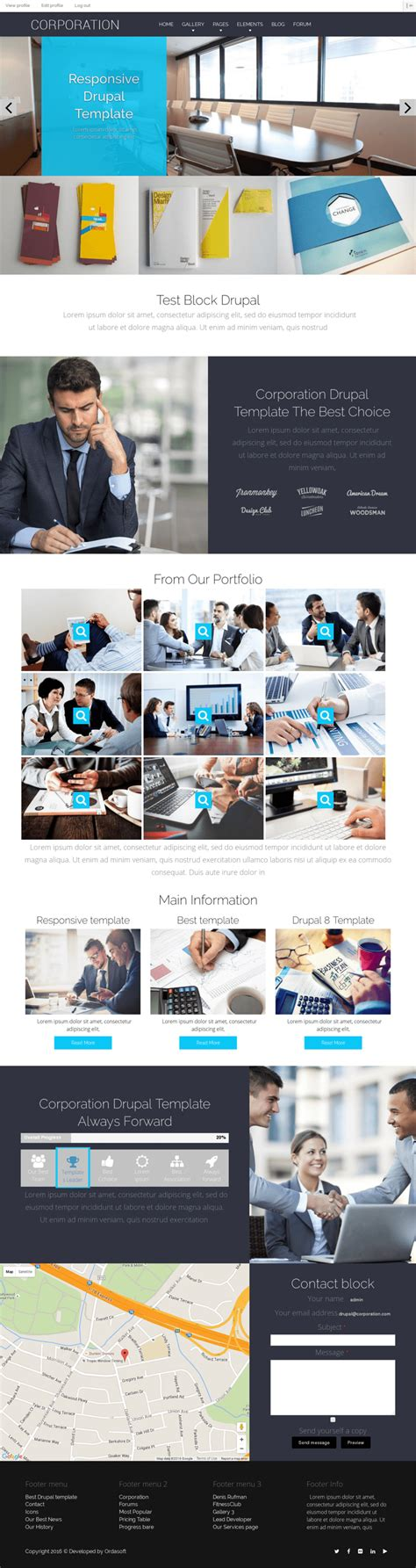 drupal themes responsive business corporation drupal business theme drupal business