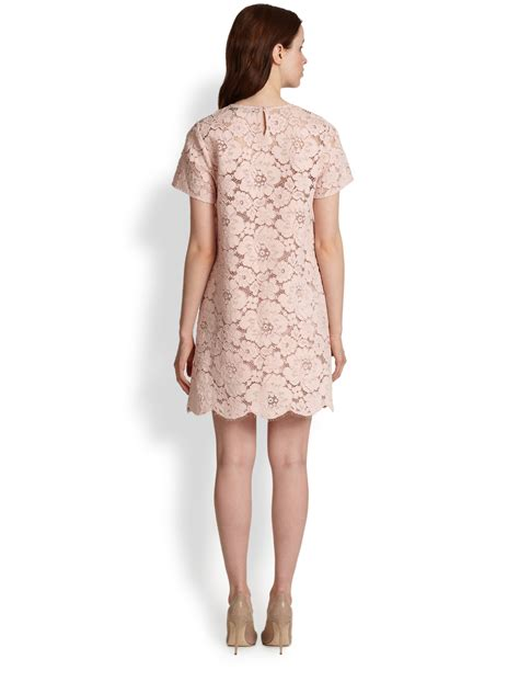 Dress Lace Import 1 lyst bcbgmaxazria floral lace dress in pink