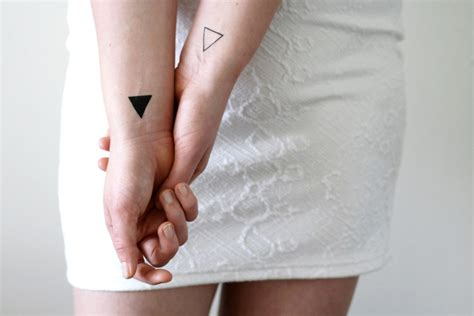triangle couple tattoo meaning 4 small triangle temporary tattoos small temporary tattoo