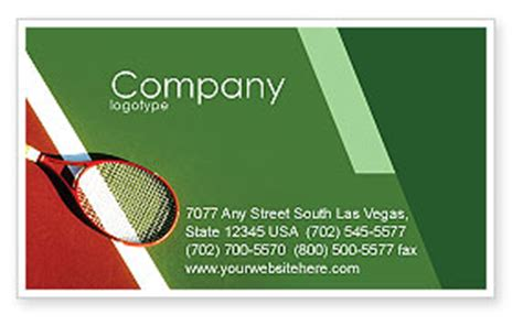 tennis business card template tennis rackets flyer template background in microsoft