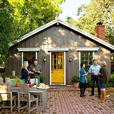 gray house yellow door grey house with yellow red front door design ideas 2018