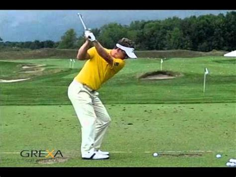 iron vs driver swing luke donald slow motion golf swing youtube