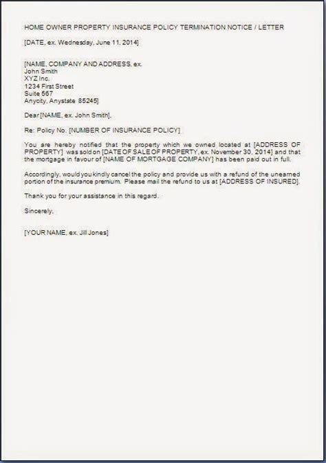 insurance cancellation letter exle house insurance cancellation letter citehrblog