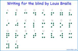 Blind People Brail English Fakoo De Alphabets Of Disabled People Inform