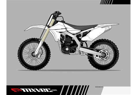 motocross bike vector template  vector art  vecteezy