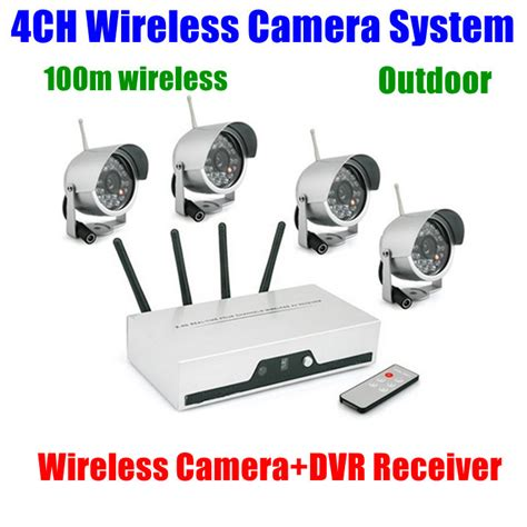 4ch cameras wireless dvr receiver kit wifi