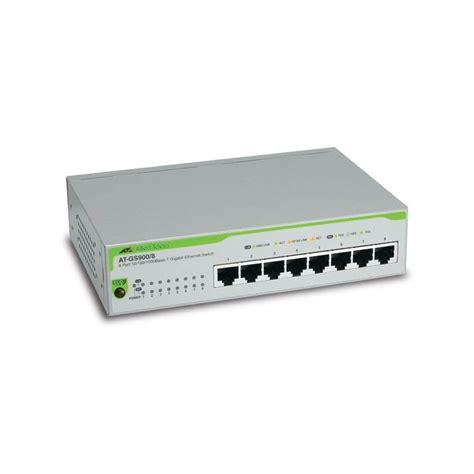 Switch Hub Allied Telesis 8 Port allied telesis at gsw900 8 switch 8 port gigabit 10 100