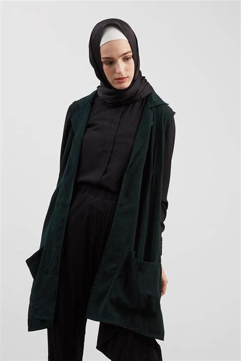 Baju Muslim Vest koleksi baju muslim terbaru 2018 model luaran desain kekinian baju muslim modern