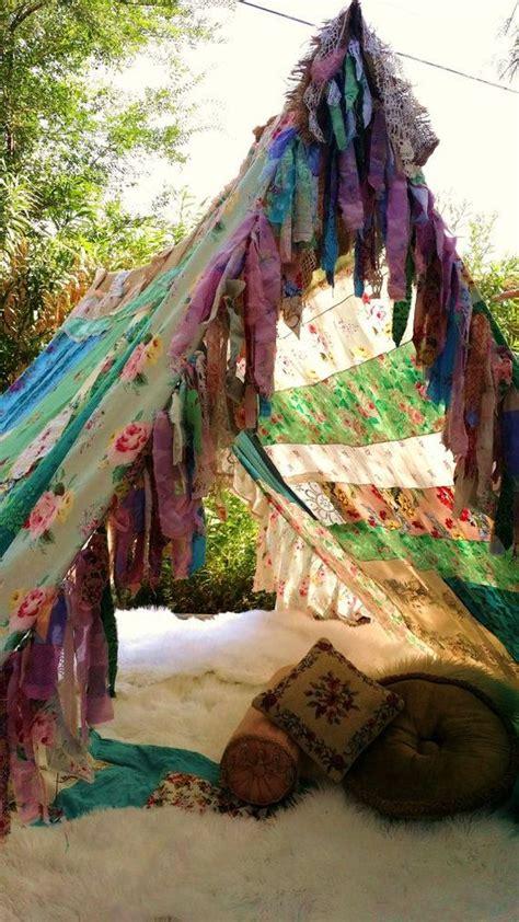bohemian gypsy bed canopy boho tent gling teepee vintage scarves gypsy hippie