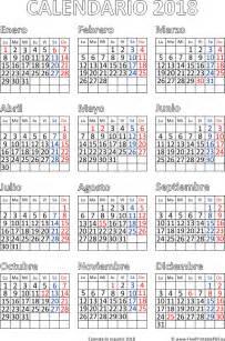 Calendario 2018 Pdf Calendario 2018 Para Imprimir Espa 241 A Imprimir El Pdf Gratis