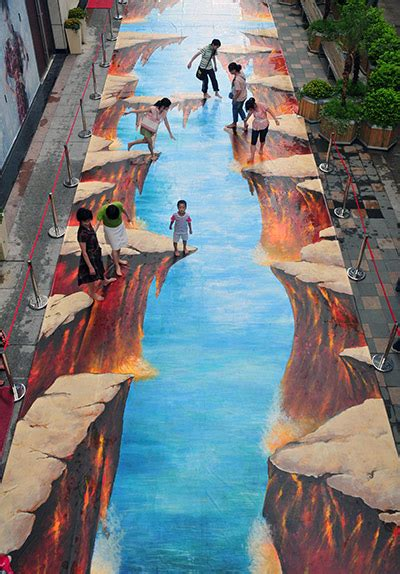 3d paintings 3d street art around the world in pictures art and design the guardian