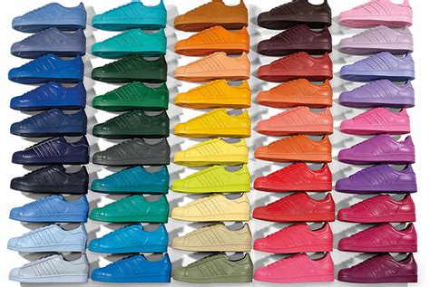 super colorful adidas originals by pharrell williams superstar supercolor pack visual magazine