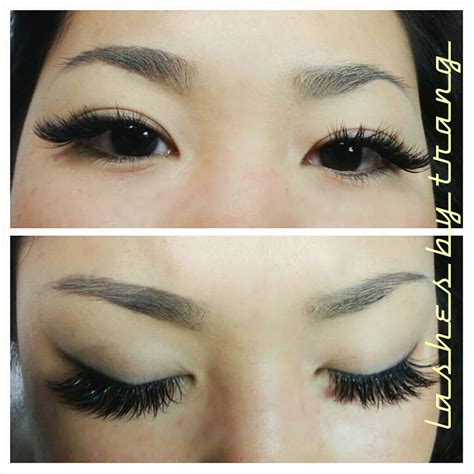 eye lash extension for old asian women asian almond eyes 2d 3d volume extensions with microfiber