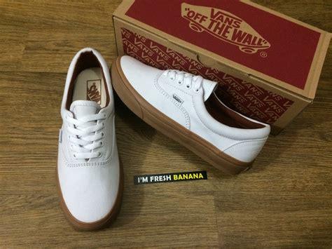 Sepatu Vans jual sepatu vans era white putih brown gum sol sole