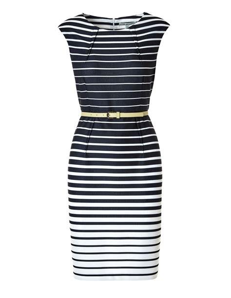 Dress Navy Stripe navy stripe sheath dress cleo