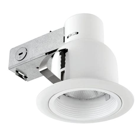 globe electric recessed lighting installation globe electric 4 in open indoor outdoor white recessed