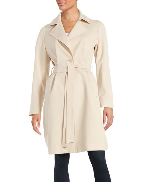 Notched Lapel Trench Coat cinzia rocca notched lapel trench coat in lyst