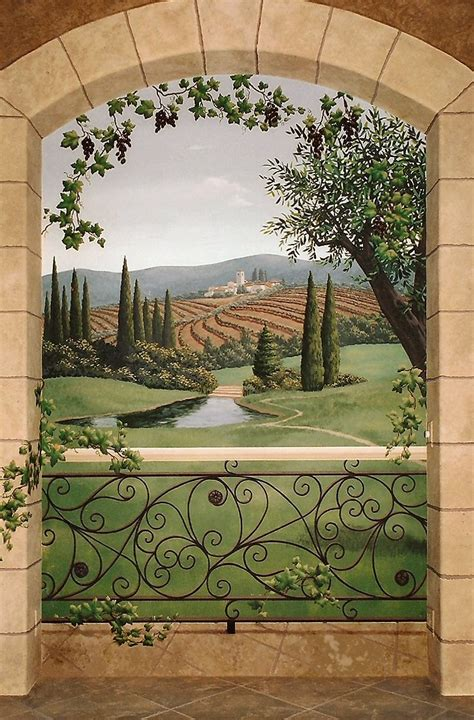 Trompe L Oeil Mural 2363 by 158 Best Tuscany Images On Mural Painting