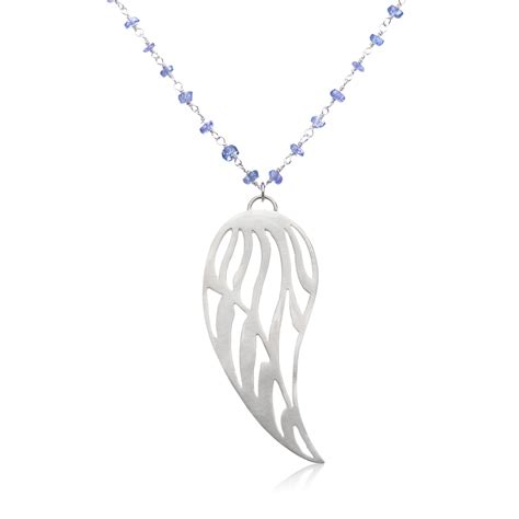 Wing Necklace tanzanite wing necklace large wing