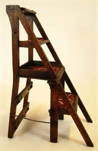 Chair Step Stool Metamorphic Library Steps Porters Stool Chair Antique