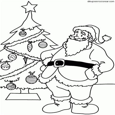 imagenes de navidad sin colorear dibujos de papa noel coloreados para imprimir