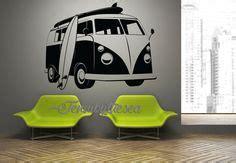 Design Aufkleber Für Auto by Vinilo Decorativo Vw Van Surf 02 Cositas Pinterest