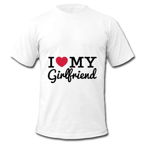 design t shirt logo free free shipping oneck men tshirt i love my girlfriend design