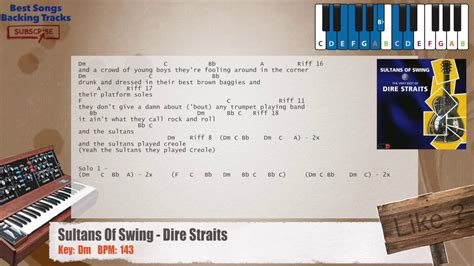 sultans of swing backing sultans of swing dire straits piano backing track with