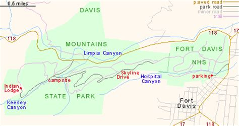davis mountains texas map davis mountains state park west texas