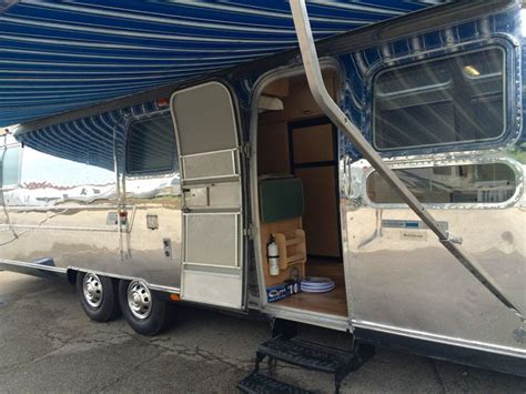 vintage airstream awning 16 best airstream renovation projects by woodland travel