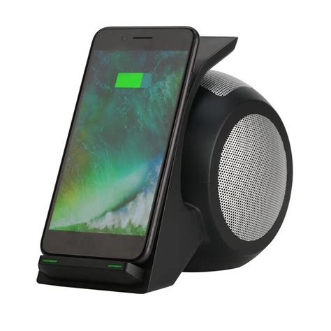 1 iphone 2 bluetooth speakers bakeey 3 in 1 nfc qi wireless charger bluetooth speaker with led light for iphone x 8plus s8