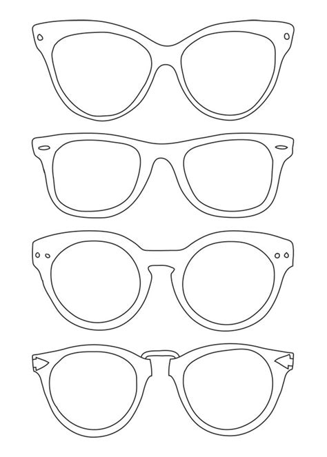Sunglasses Template Use For Back To School Night For Parents To Write Messages To Their Kids Printable Lshade Template